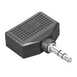 Адаптер Hama 2x3.5 мм Jack (f) - 3.5 мм Jack (m), стерео, черный H-43353 адаптер питания hama h 46612 черный