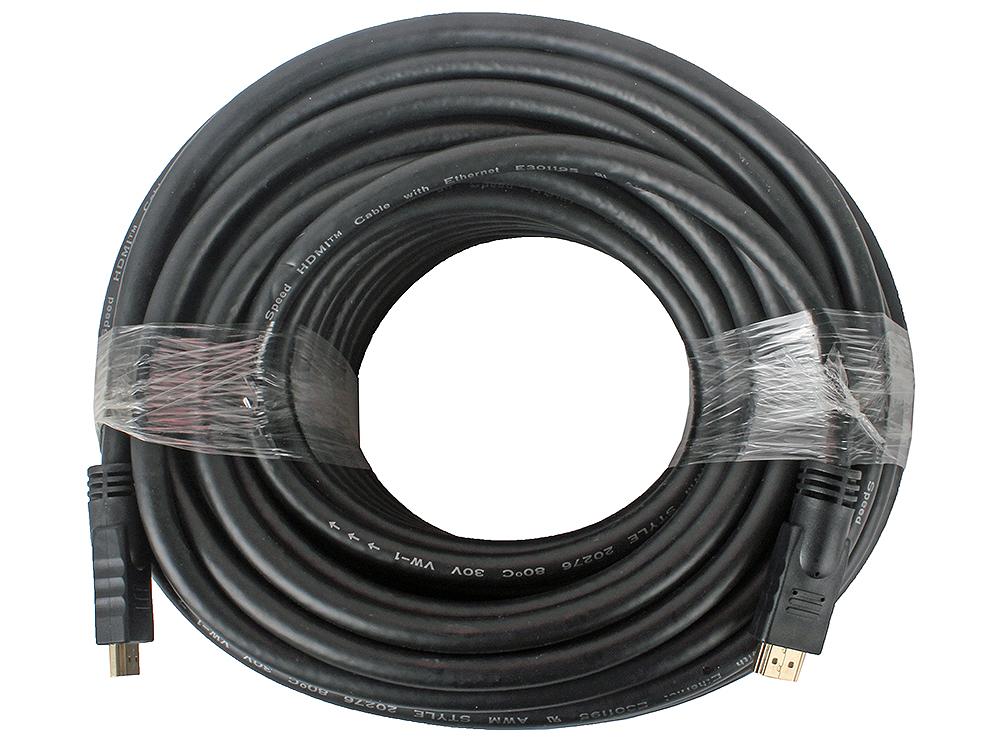 Кабель HDMI Gembird/Cablexpert, 30м, v1.4, 19M/19M, черный, позол.разъемы, экран, пакет CC-HDMI4-30M cablexpert переходник hdmi hdmi 19f 19m угловой соединитель 90 градусов золотые разъемы a hdmi90 fml