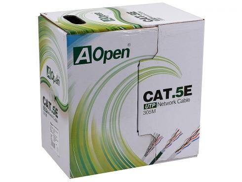 Кабель Aopen ANC514-40_AOPEN_UTP_4X2X0.4MM_305M 4 пары, одножильный кабель aopen anc514 40 aopen utp 4x2x0 4mm 305m