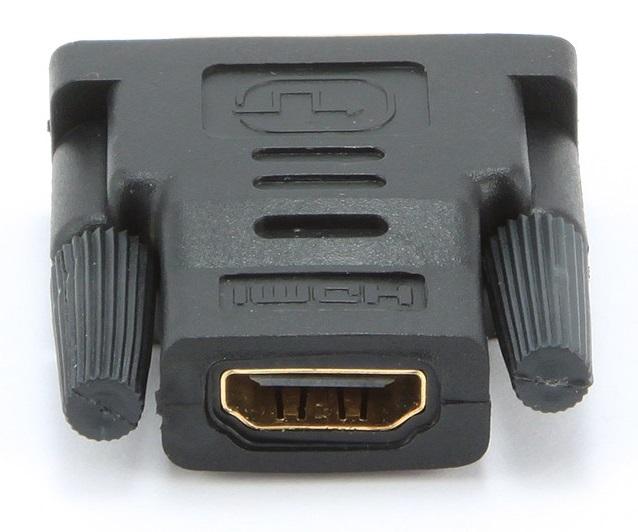 Адаптер (переходник) Gembird HDMI-DVI A-HDMI-DVI-2, 19F/19M, золотые разъемы, пакет стоимость