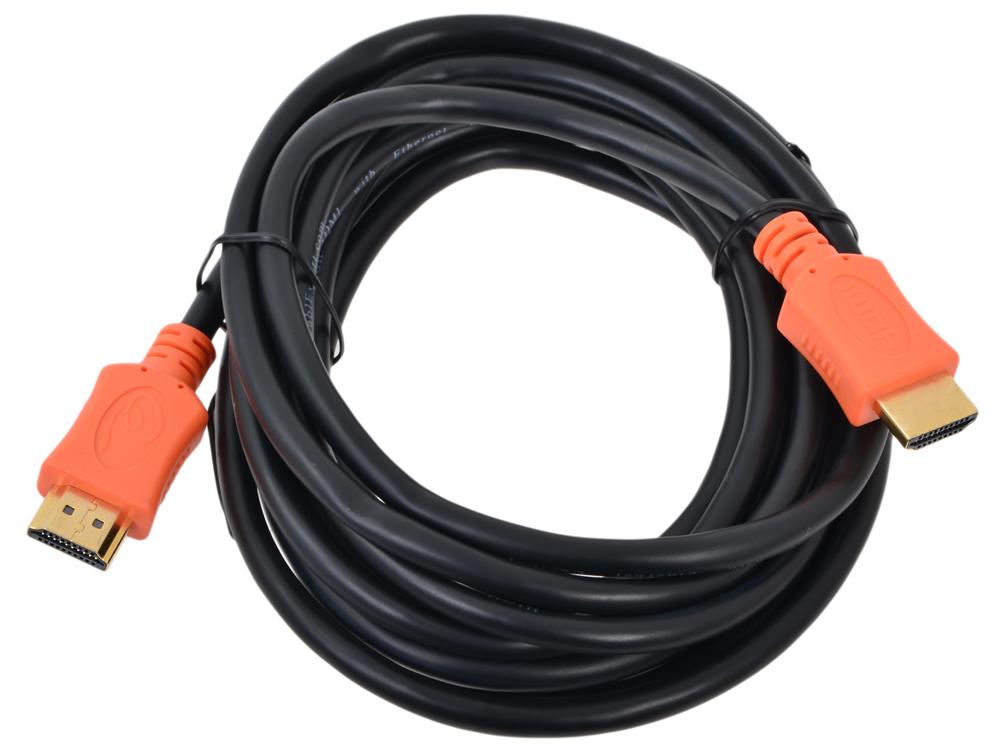 Кабель HDMI Gembird/Cablexpert, 3.0м, v1.4, 19M/19M, серия Light, черный, позол.разъемы кабель