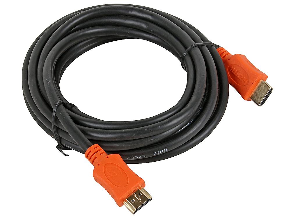 Кабель HDMI Gembird/Cablexpert, 4.5м, v1.4, 19M/19M, серия Light, черный, позол.разъемы кабель
