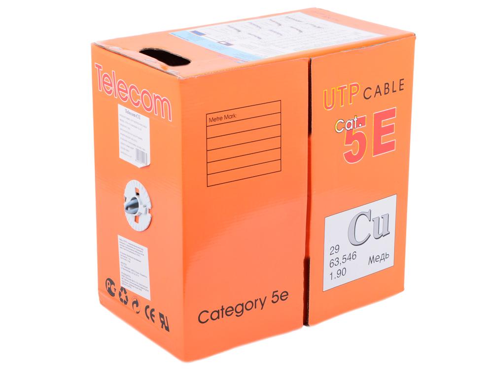 Сетевой кабель бухта 305м UTP 5e 4 пары Telecom (UTP4-TC1000C5EМ-CU-IS) медный