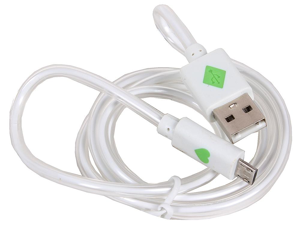 3C-LDC-066W-MUSB кабель usb 2 0 am microbm 1 0м с подсветкой красный 3cott 3c cldc 066br musb