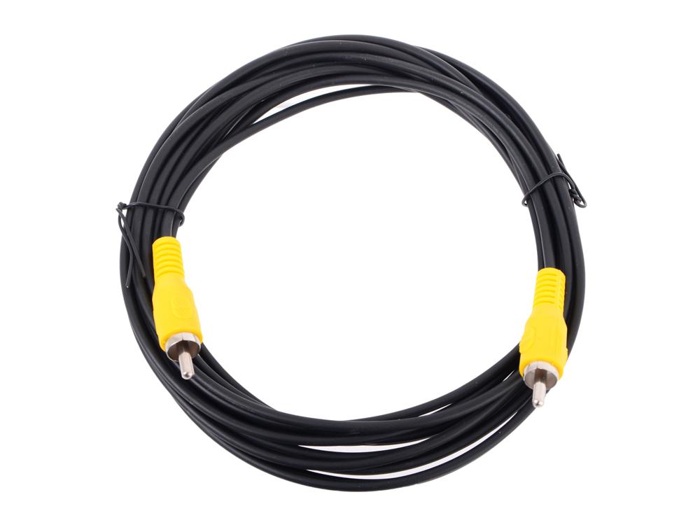Кабель соединительный RCA (M) - RCA (M) черный 5m, Telecom (TAV4158-5M) кабель межблочный аналоговый rca audioquest tower 0 6 m