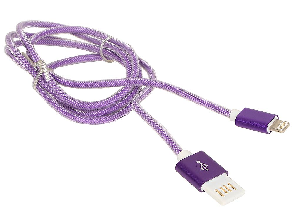 Кабель USB 2.0 Cablexpert, AM/Lightning 8P, 1м фиолетовый металлик usb кабель ach01 03bh белый usb am lightning 1м