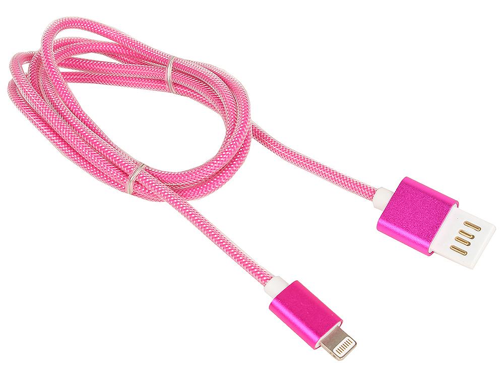 Кабель USB 2.0 Cablexpert, AM/Lightning 8P, 1м розовый металлик usb кабель ach01 03bh белый usb am lightning 1м