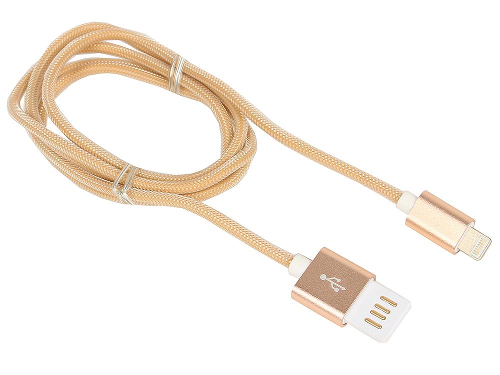 Кабель USB 2.0 Cablexpert, AM/Lightning 8P, 1м золотой металлик кабель a data lightning usb для iphone ipad ipod 1м золотистый amfial 100cmk cgd