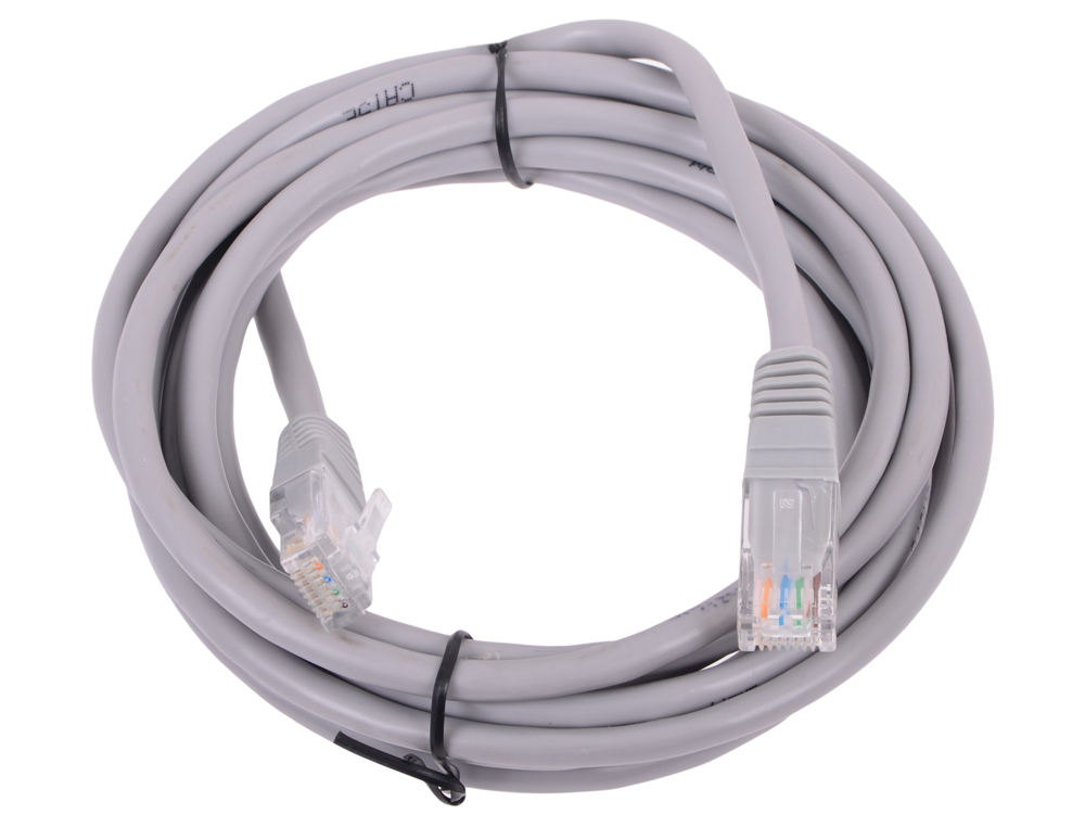 Патчкорд литой Telecom UTP кат.5е 3,0м серый (NA102--3M)