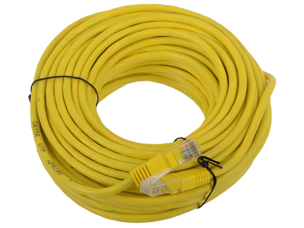 Патч-корд литой Telecom UTP кат.5е 20,0м желтый патч корд huawei sn2f04fcpc