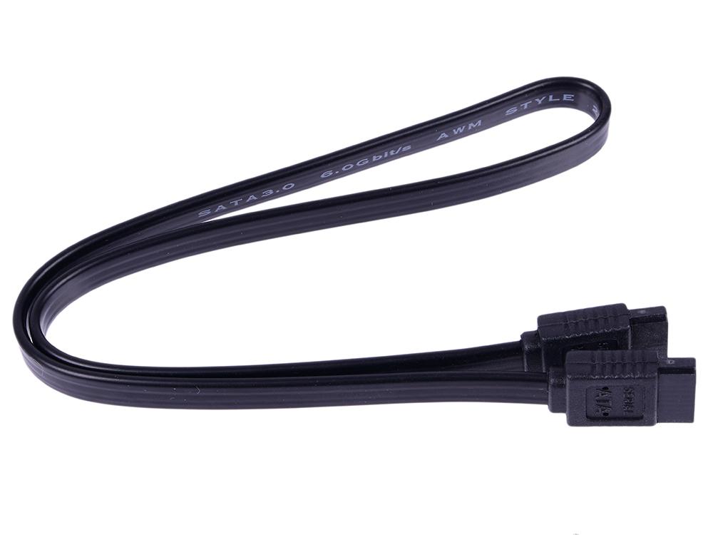 Кабель 5bites SATA3-7PL45S Serial ATA V3.0 6Гбит/с защелка 0.45м