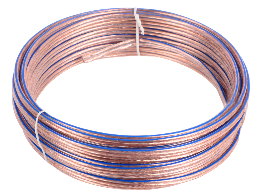 Фото - Акустический кабель Cablexpert CC-TC2x1,5-10M, прозрачный, 10 м, бухта кабель