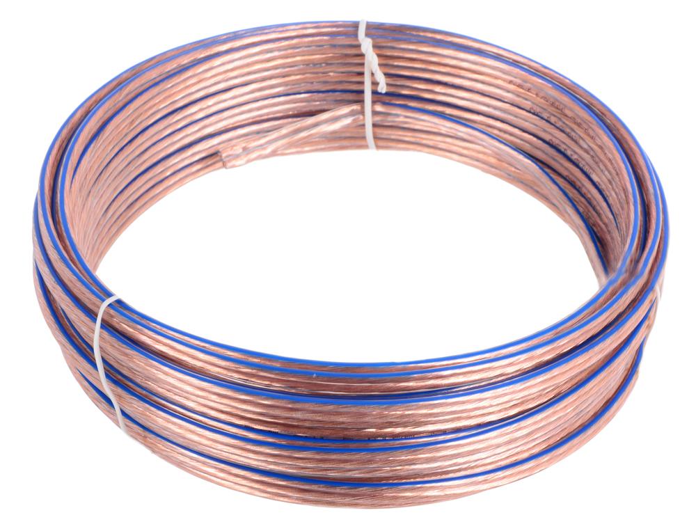Акустический кабель Cablexpert CC-TC2x1,5-10M, прозрачный, 10 м, бухта цена