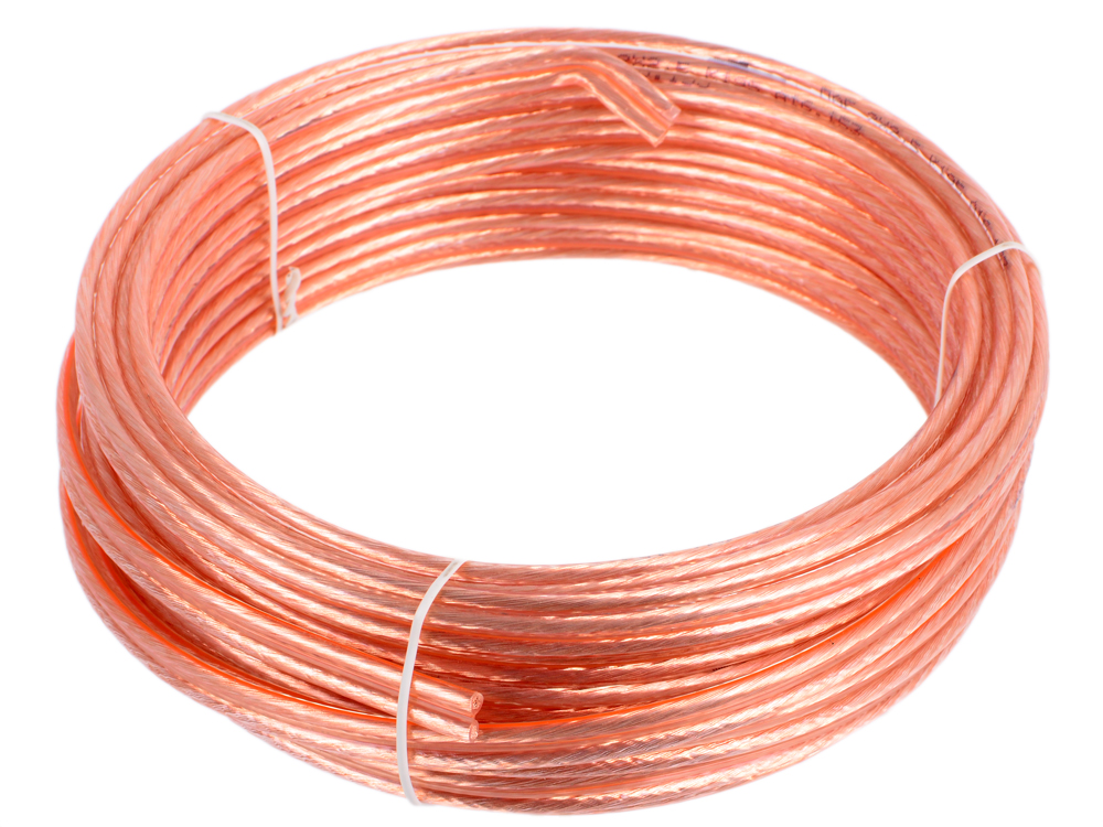 цена на Акустический кабель Cablexpert CC-TC2x2,5-10M, прозрачный, 10 м, бухта