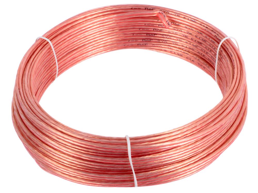 Акустический кабель Cablexpert CC-TC2x0,75-20M, прозрачный, 20 м, бухта кабель акустический speakon onetech pro 25 20 m
