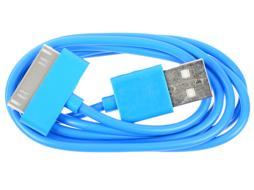 Кабель CBR Human Friends Super Link Rainbow C Blue USB 1м для iPhone 3G/4, iPad 1/2/3, iPod 5 6mm dia ratio 2 1 heat shrinkable tube shrink tubing 10m blue