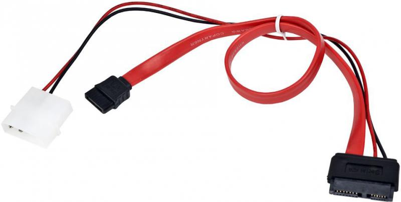 Кабель miniSATA+Molex 0.5м Gembird CC-SATA-C3 molex to sata splitter power cable