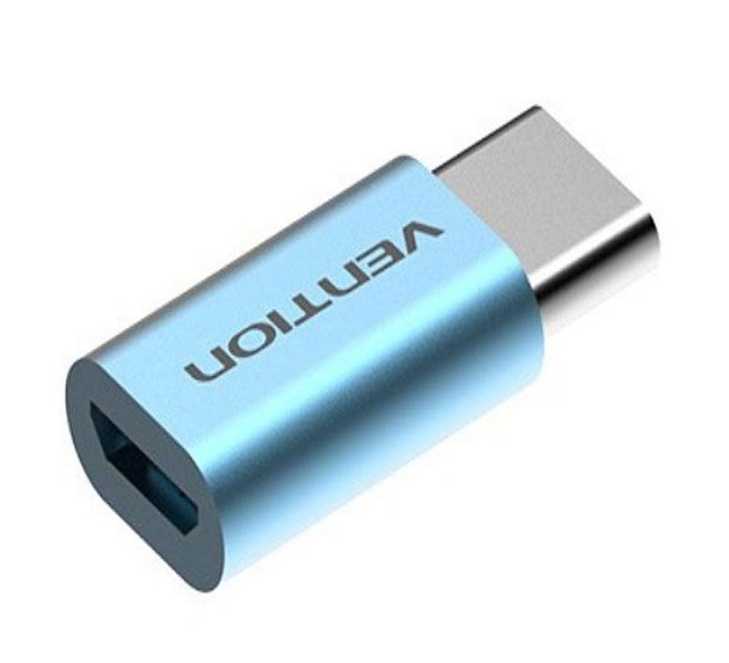 Переходник USB С(m)-microUSB B Vention VAS-S10-S голубой адаптер переходник vention usb type c m usb 2 0 micro b 5pin f белый vas s 10 w