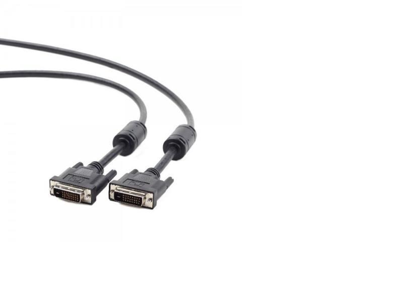 лучшая цена Кабель DVI-DVI 1.8м Dual Link Gembird экранированный ферритовые кольца черный CC-DVI2-BK-6