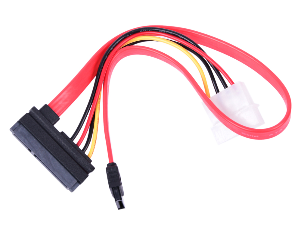 Фото - Кабель Combo SATA Cablexpert, molex+SATA/SATA, 15pin+7pin, (длина инт - 35см, питание - 15см free shipping 1set molex 16pin electric plug 33472 1601 wiring harness cable molex connector 33472 1740