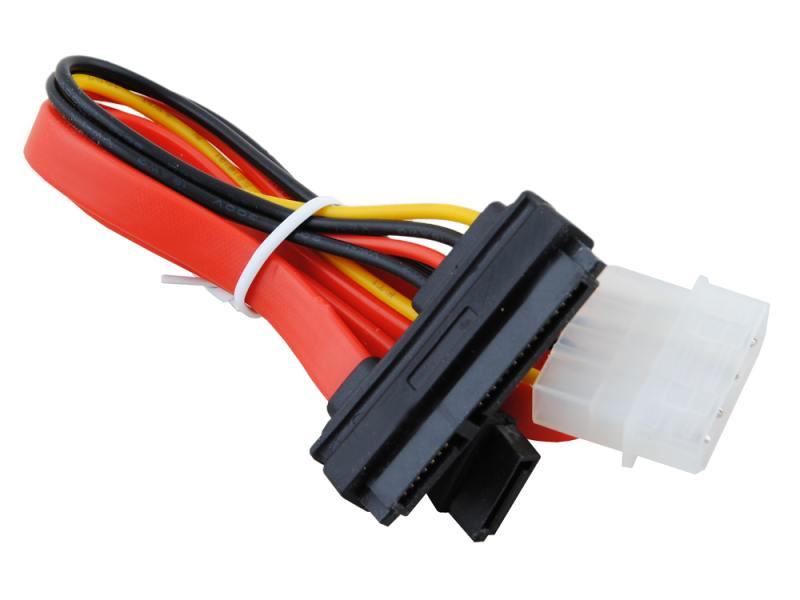 Кабель SATA 35см +molex 13.5см Gembird CC-SATA-C1 15pin+7pin molex to sata splitter power cable