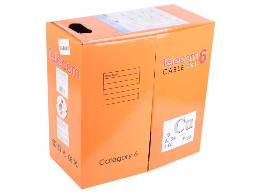 цена на Кабель TELECOM CU UTP 4 пары 6 кат. d0,57mm (UTP4-TC1000C6S23-CU-IS) (бухта 305м)