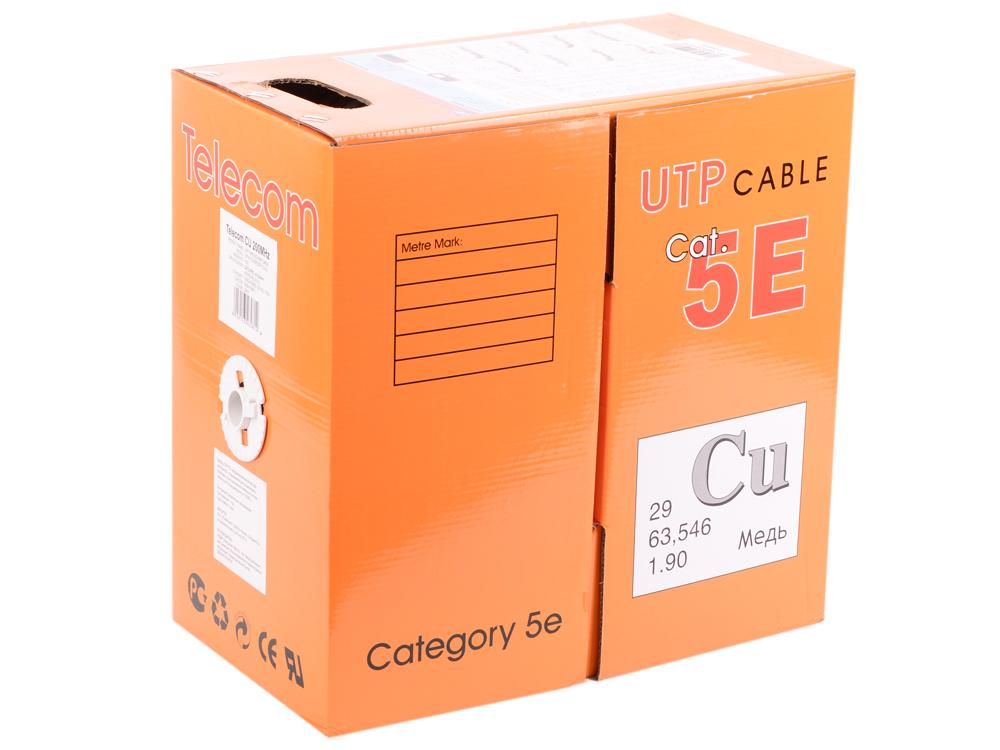 Кабель Telecom CU (медь) PRO UTP 4 пары кат. 5e d0,52mm UTP4-TC1000C5EP-CU-IS 305м кабель telecom ultra pro utp кат 6 бухта 305м tu634057 омедненный