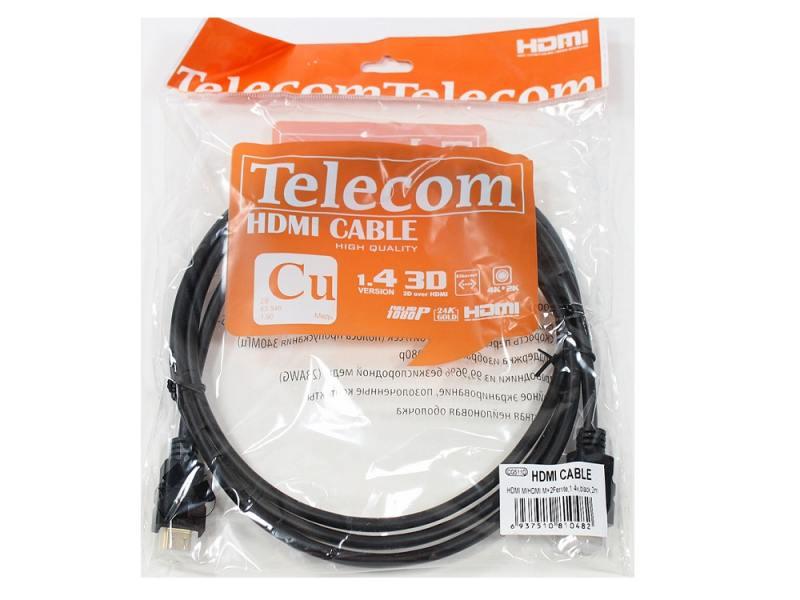 Кабель HDMI Telecom CG501D-2M 2 м черный позолоченные контакты кабель
