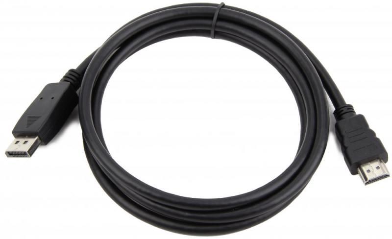 Кабель DisplayPort-HDMI 1м Gembird экранированный черный CC-DP-HDMI-1M techlink 710201 hdmi hdmi 1м