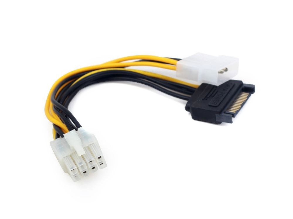 Разветвитель питания Cablexpert CC-PSU-82, Molex+SATA-PCI-Express 8pin molex to sata splitter power cable