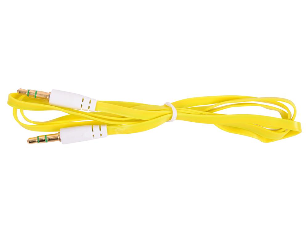 Кабель Belsis Jack 3.5 mm - Jack 3.5 mm, вилка - вилка, стерео, 0,75 м, желтый плоский BL1102 цена и фото