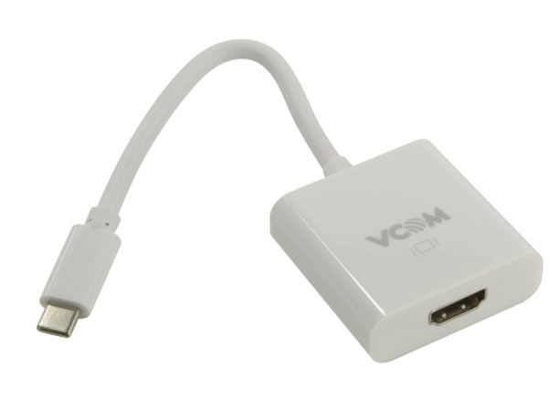 Фото - Кабель-адаптер USB 3.1 Type-Cm - HDMI A(f) 3840x2160@60Hz, 10Gbps , 0,15m VCOM (CU423) полочка решетка с крючком и держателем мочалок 26 cm fbs ryna ryn 031