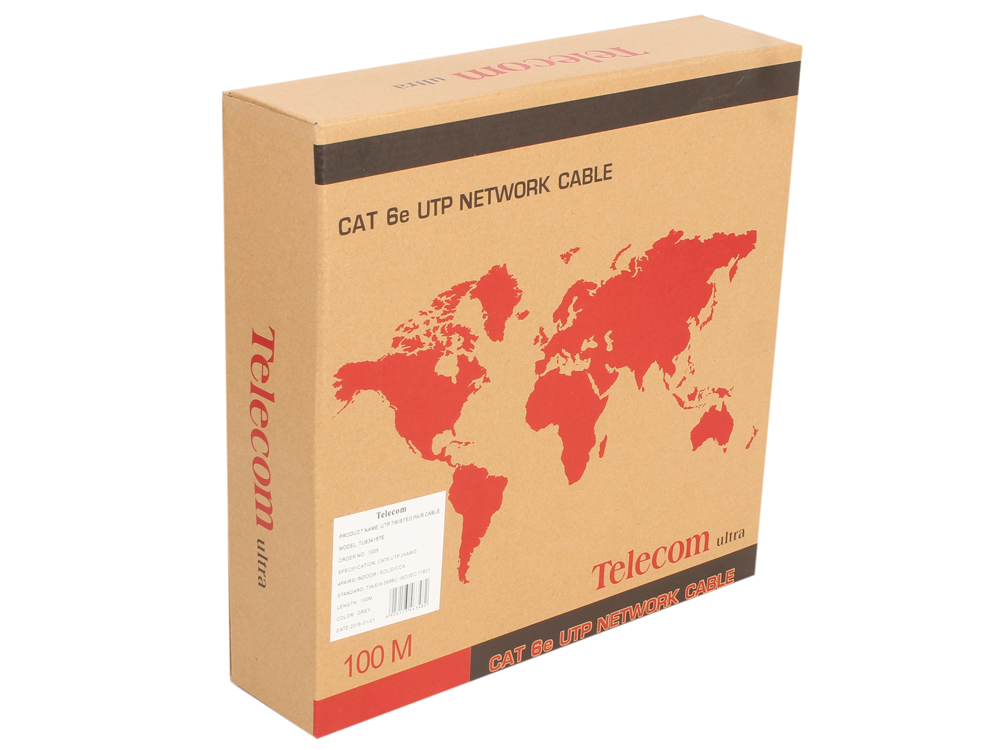 цена на Кабель Telecom Ultra UTP 4 пары кат.6 (бухта 100м) p/n: TU634157