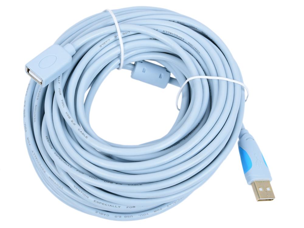 Кабель удлинительный USB 2.0 AM-AF 15.0м Vention VAS-C01-S1500 с усилителем цена