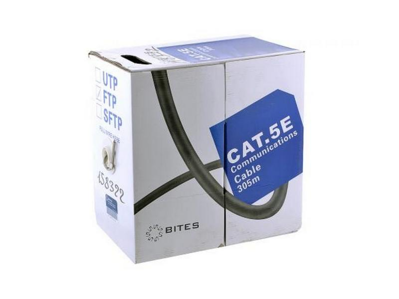 Кабель 5bites LIGHT FS5400-305S, FTP, 4 пары, одножильный (solid), кат. 5e, (0,40 mm), CCA+CCS, 305m, цена и фото