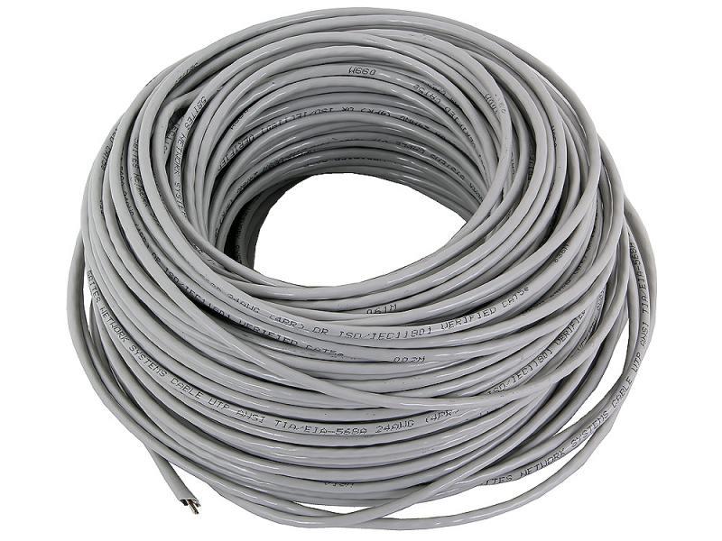 Кабель UTP, 4 пары, одножильный (solid), кат. 5e, (0,50 mm), CCA, 5bites, 100m сетевой кабель exegate телефонный кабель cca 4 провода бухта 100m white