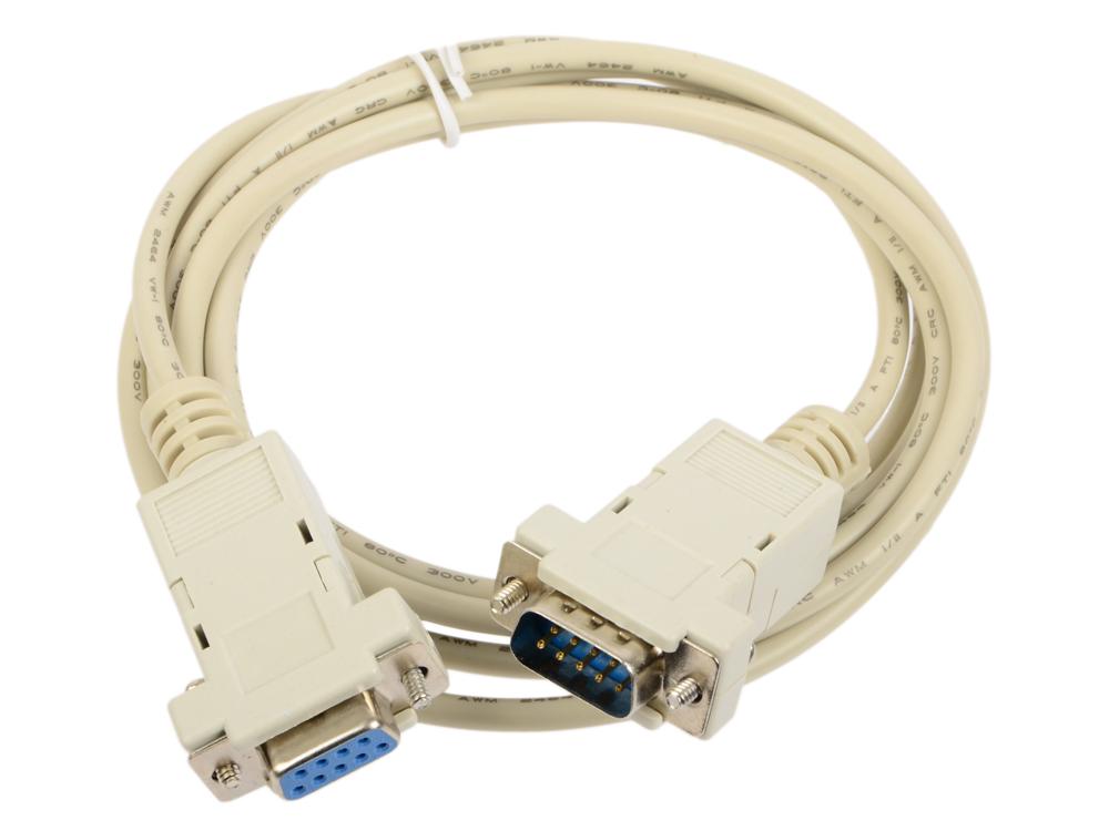 Кабель удлинитель COM порта 9M/9F, 1.8м, Gembird CC-133-6 кабель удлинитель com порта gembird cc 133 6 9m 9f 1 8м