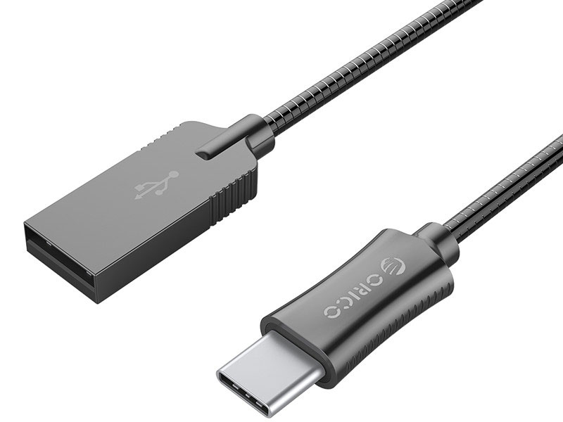 Кабель USB 2.0 AM-Type-C 1м Orico HTS-10 черный кабель usb 3 0 type c am