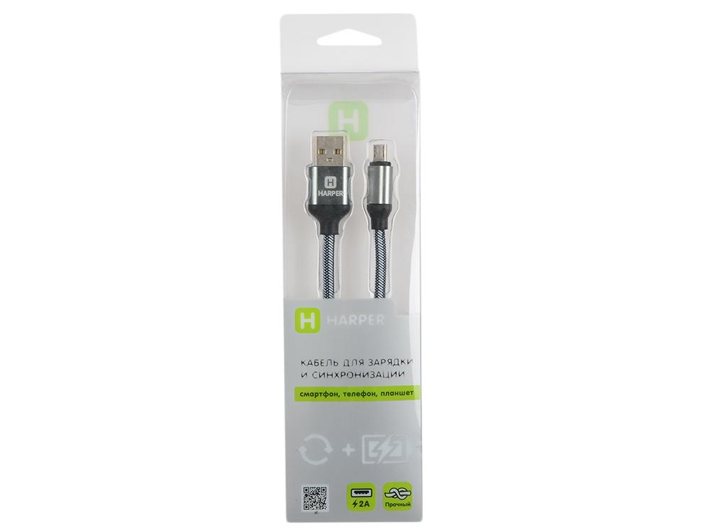 лучшая цена Кабель HARPER BRCH-310 SILVER USB - microUSB, Длина кабеля: 1м