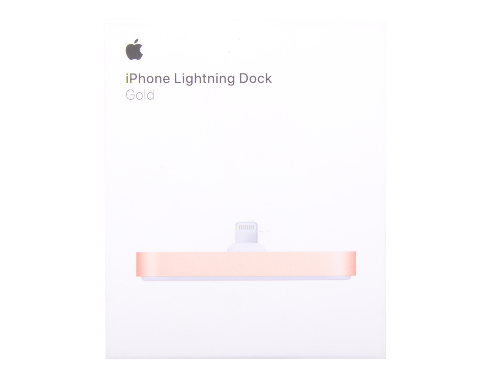 Док-станция Apple iPhone Lightning Dock золотистый MQHX2ZM/A док станция auzer android голубой