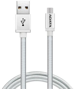 Кабель USB - micro USB A-Data AMUCAL-100CMK-CSV 1 м серебристый
