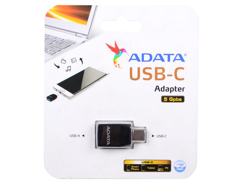 Переходник A-Data USB-A - USB-C ACAF3PL-ADP-RBK a c