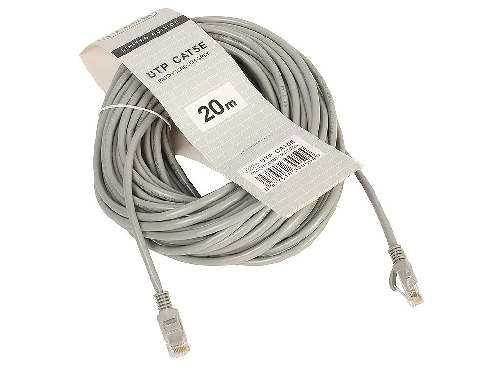 цена на Патч-корд литой TV-COM многожильный UTP кат.5е 20м серый (NP511-20M)