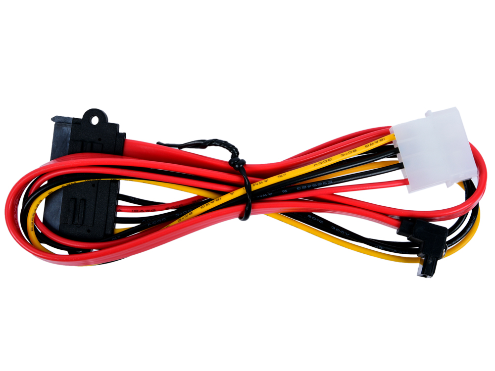 Переходник molex+SATA/SATA, 15pin+7pin VCOM (VHC7702) длина инт - 45см, питание - 15см molex to sata splitter power cable