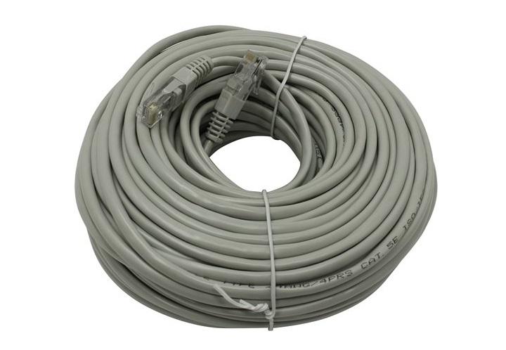 цена на Патч-корд литой TV-COM NP511-30M многожильный UTP кат.5е 30м серый