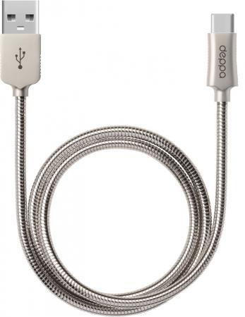 все цены на Кабель Deppa Steel USB - Type-C, алюминий, 1,2 м., стальной онлайн