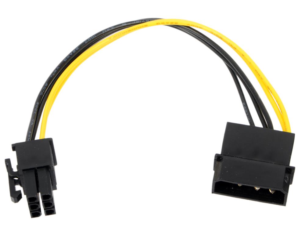 Переходник питания для PCI-Ex видеокарт Molex 4pin (M) - 6pin ORIENT C511 переходник питания для pci ex видеокарт 2 x sata 15pin m 6pin orient c513