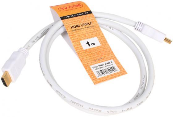 Кабель HDMI VCOM CG150SW-1M белый кабель fujipower белый