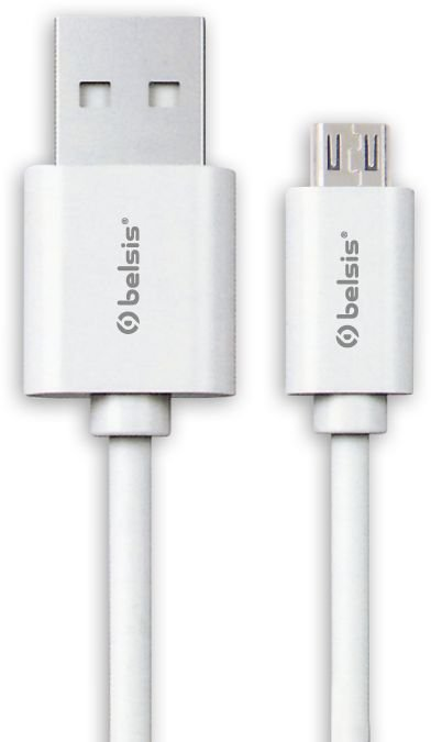 Фото - Кабель MicroUSB Belsis BS3013, 0.95 м, белый кабель канал tdm sq0402 0003 20х10 белый