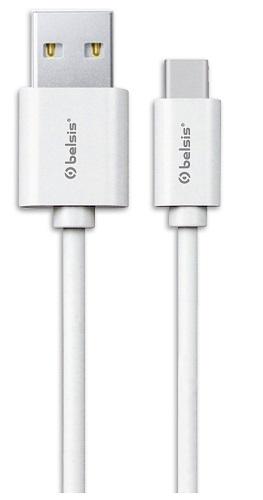 Кабель Belsis USB 2.0 A - USB Type C вилка - вилка, 0.95 м., белый, BS3016 кабель usb belsis bw1409 3м bw1409